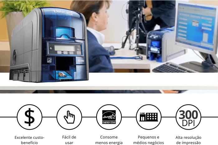 Impressora de Cartões Datacard SD260 com ícones