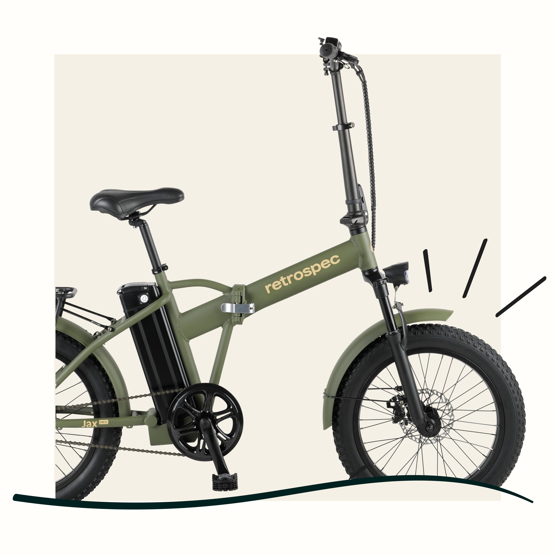 Jax Rev Folding Electric Bike  Retrospec